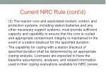current nrc rule cont d
