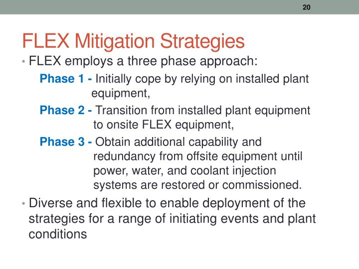 FLEX Mitigation Strategies