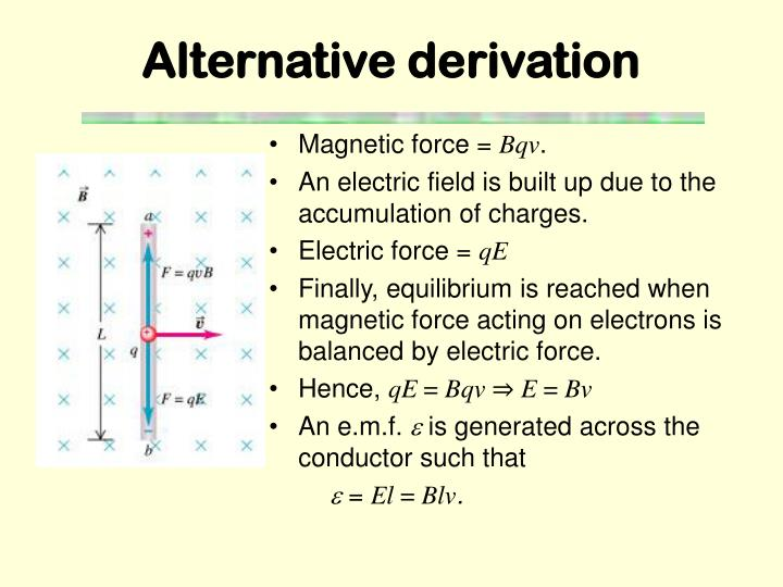 Alternative derivation