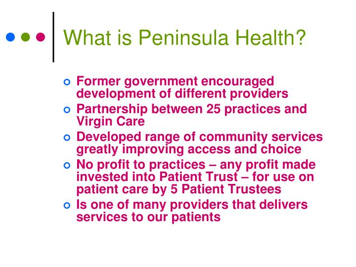 What is Peninsula Health?