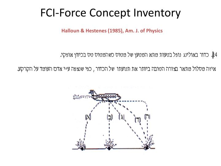 FCI-Force Concept Inventory