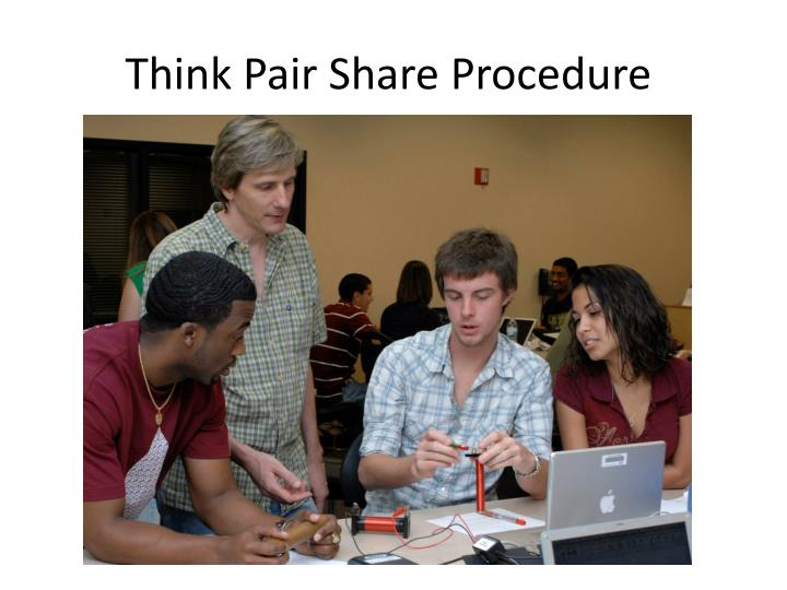 Think Pair Share Procedure