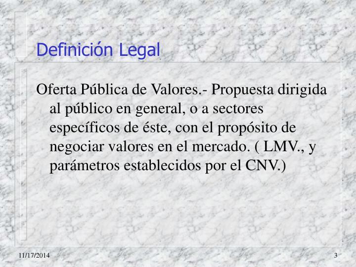Definición Legal