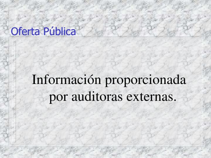 Oferta Pública