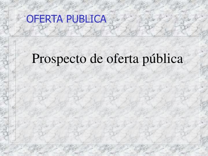 OFERTA PUBLICA