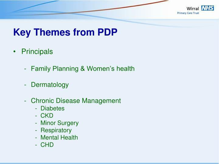 Key Themes from PDP