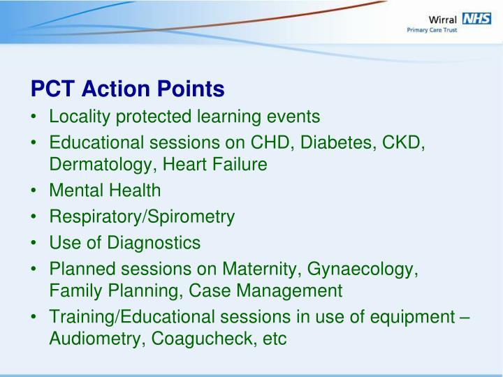 PCT Action Points