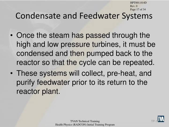 Condensate and Feedwater Systems