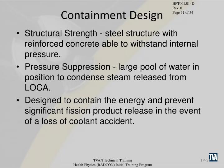 Containment Design