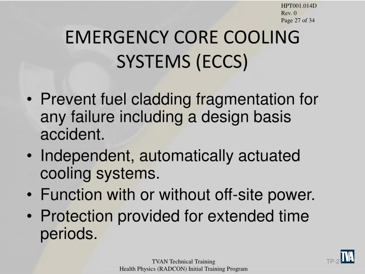 EMERGENCY CORE COOLING