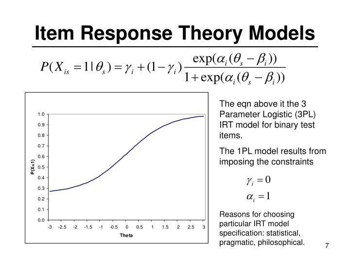 Item Response Theory Models