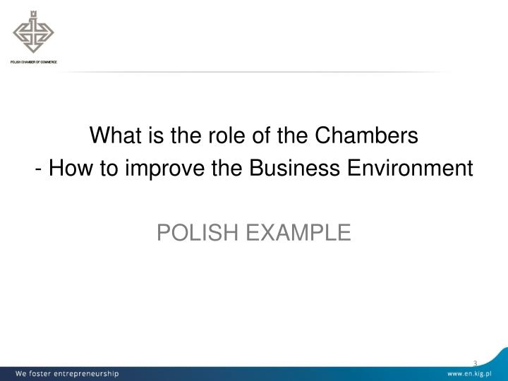 What is the role of the Chambers