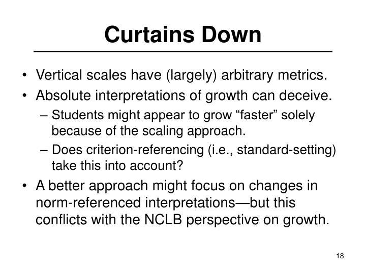 Curtains Down