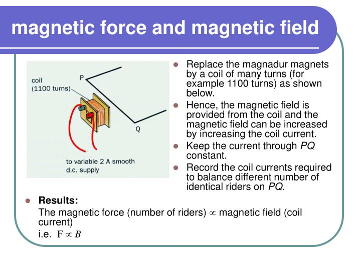 magnetic force and magnetic field