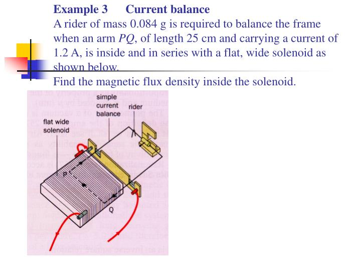 Example 3Current balance