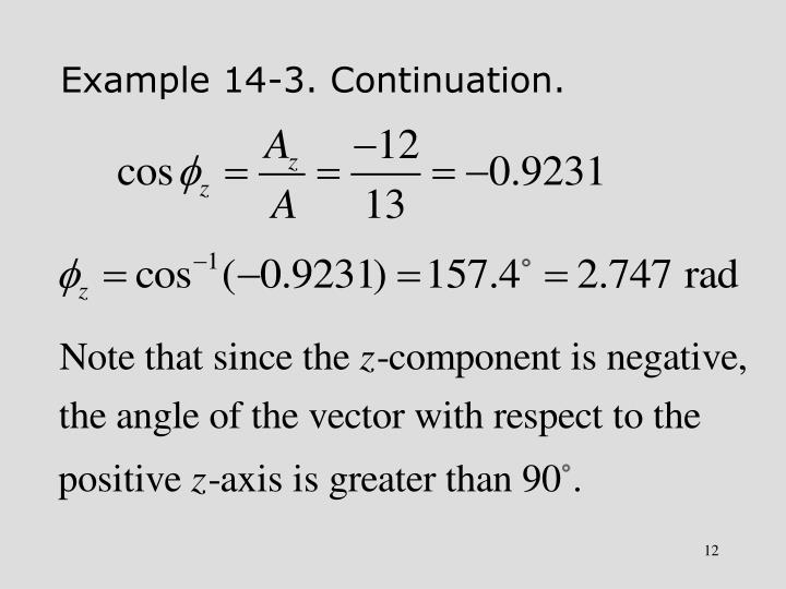 Example 14-3. Continuation.