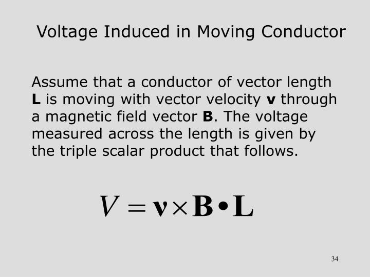 Voltage Induced in Moving Conductor