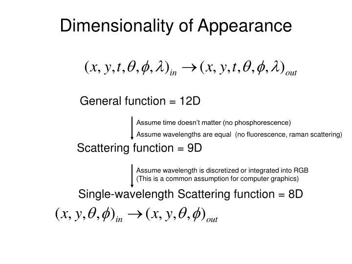 Assume time doesn't matter (no phosphorescence)