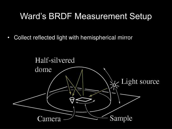 Ward's BRDF Measurement Setup