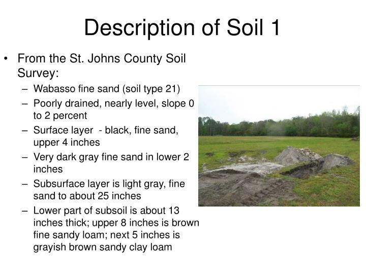 Description of Soil 1