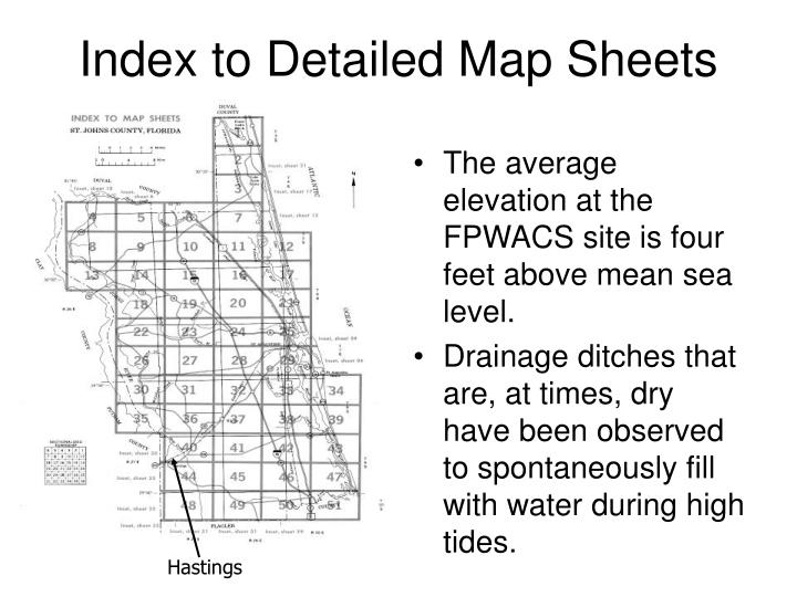 Index to Detailed Map Sheets