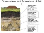 observations and evaluations of soil 1