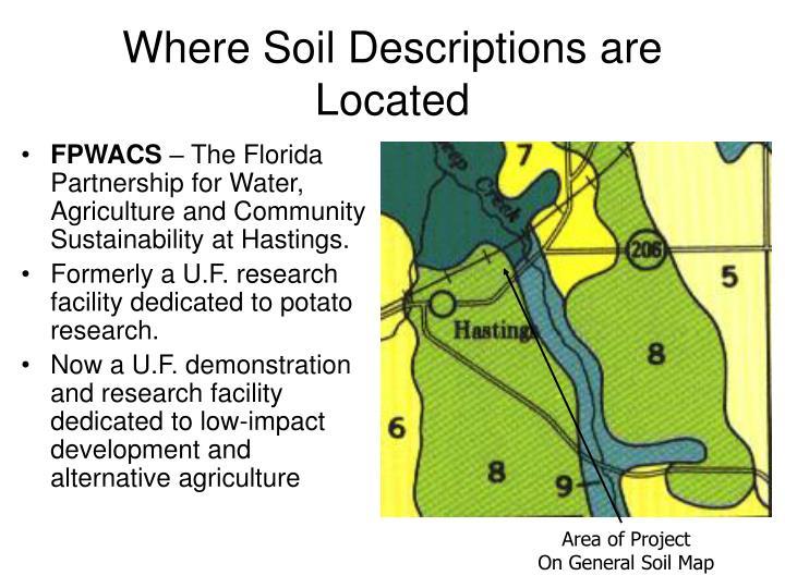 Where Soil Descriptions are Located