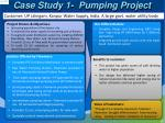 case study 1 pumping project