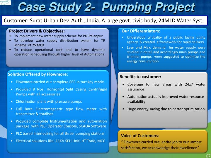 Case Study 2-  Pumping Project