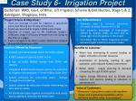case study 6 irrigation project