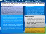 case study 7 irrigation project