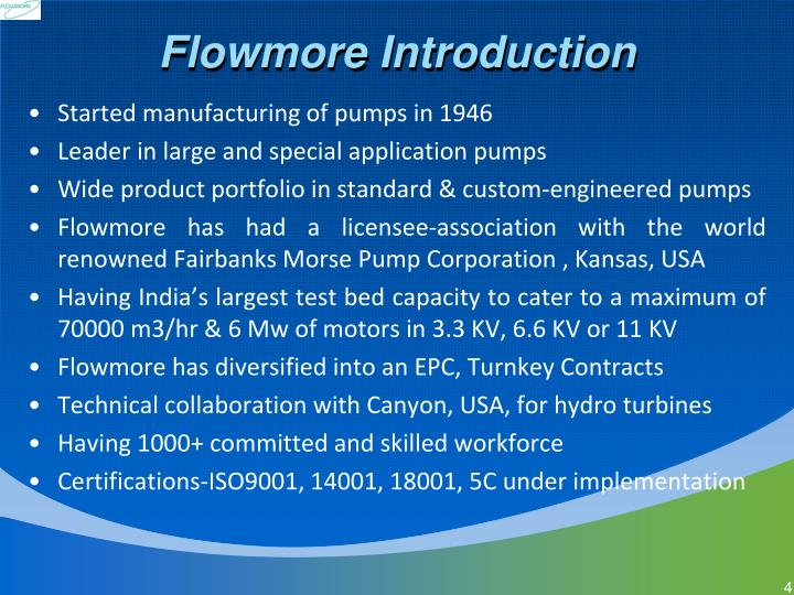 Flowmore Introduction