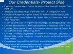our credentials project side