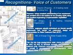 recognitions voice of customers