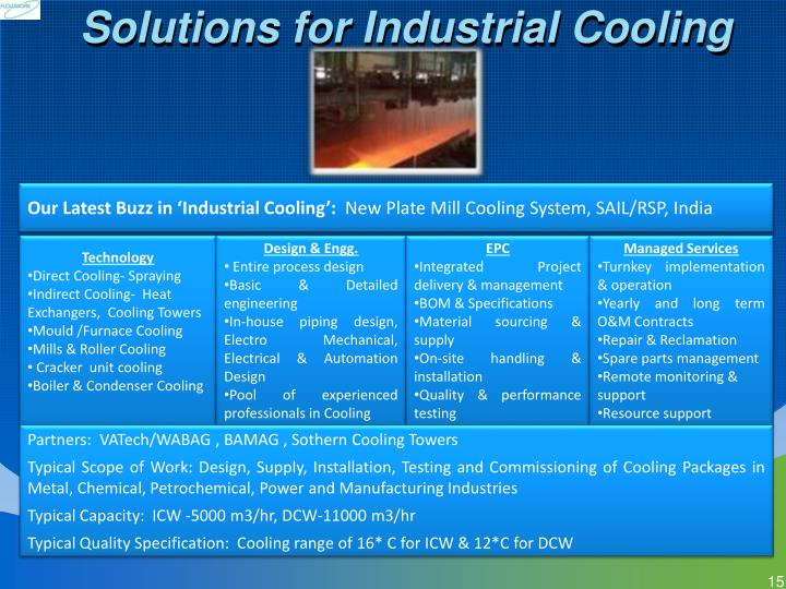 Solutions for Industrial Cooling