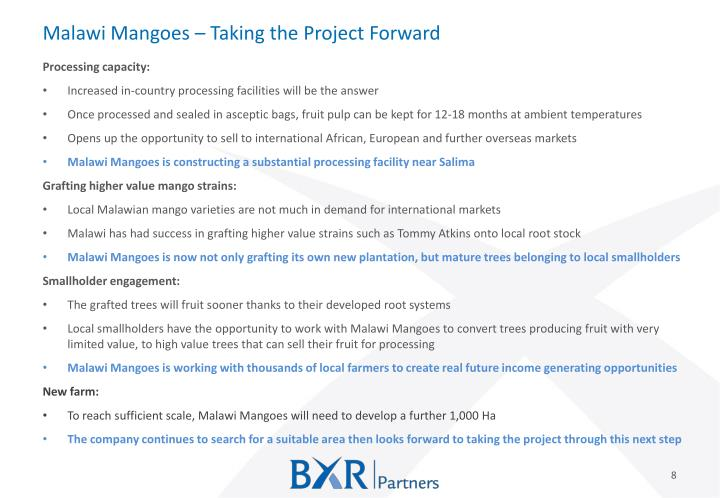 Malawi Mangoes – Taking the Project Forward