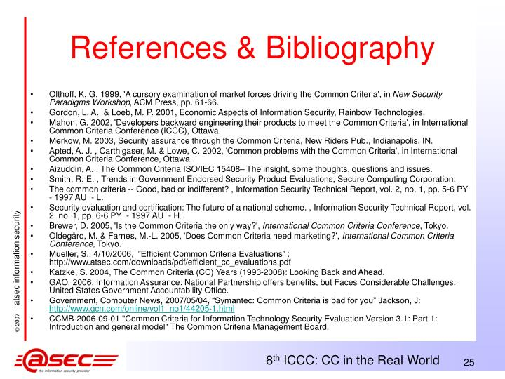 References & Bibliography