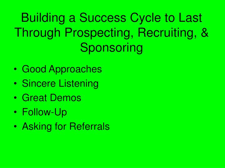 Building a Success Cycle to Last