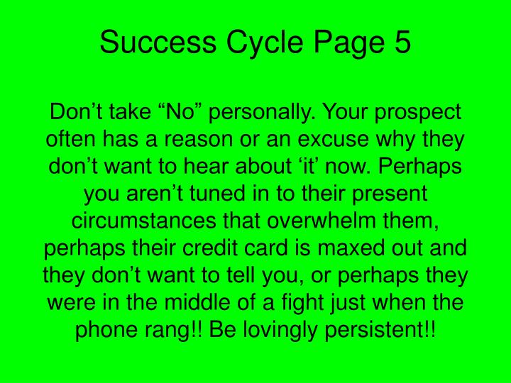 Success Cycle Page 5