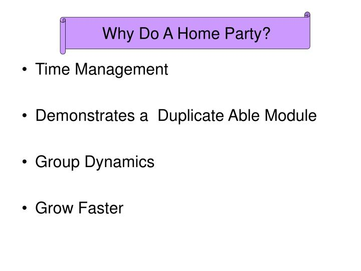 Why Do A Home Party?