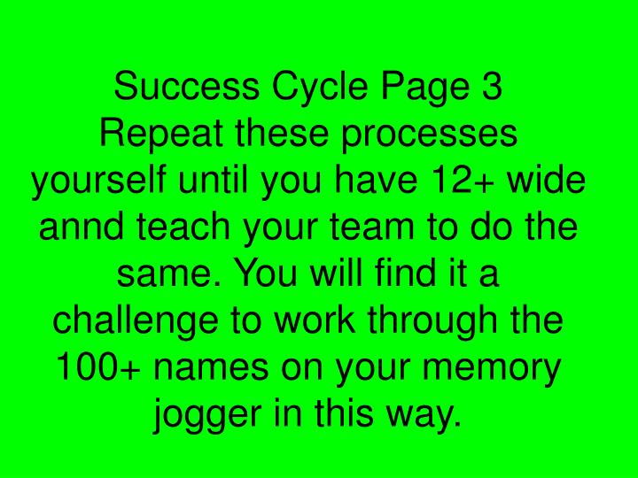 Success Cycle Page 3