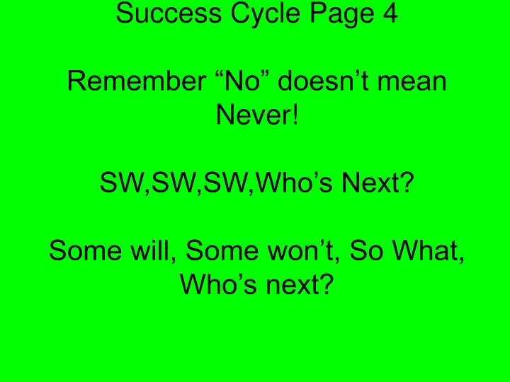 Success Cycle Page 4