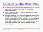 extensions to hidden markov model