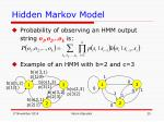 hidden markov model