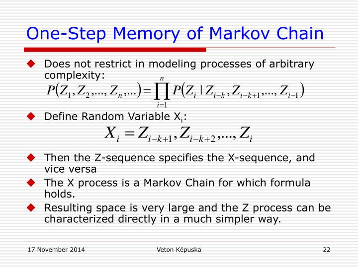 One-Step Memory of Markov Chain