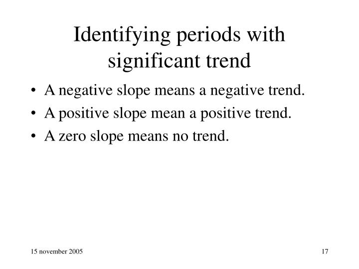 Identifying periods with significant trend