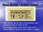 short stories a brief history