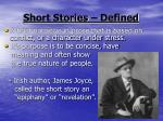 short stories defined