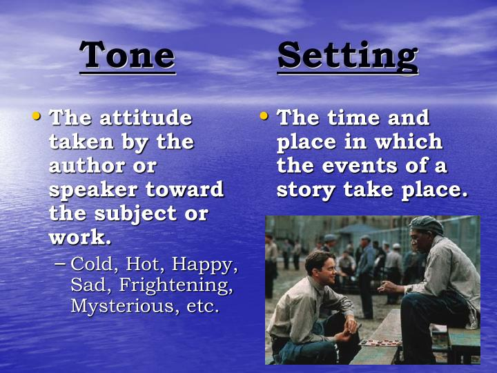 The attitude taken by the author or speaker toward the subject or work.