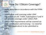 how do i obtain coverage